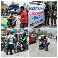 Warga Apresiasi, IWO Riau Kembali Bagikan 1.500 Masker